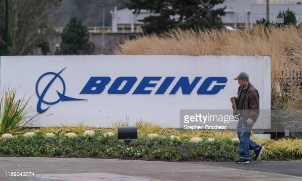A worker leaves the Boeing 737 factory on December 16 2019 in Renton Washington The company announced it is suspending production of the plane which...