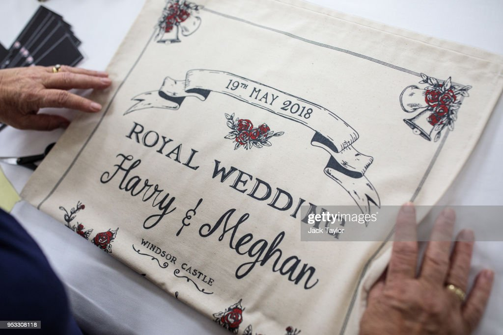 GBR: Commemorative Tea Towels Are Printed Ahead Of The Royal Wedding