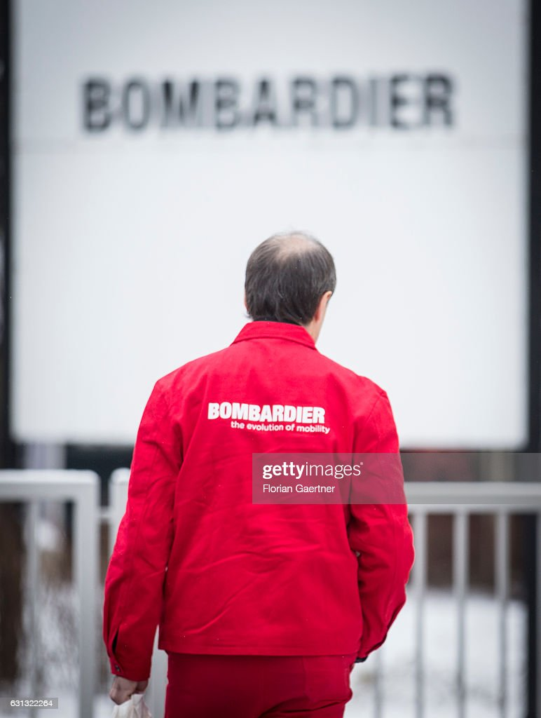 A worker of Bombardier walks to the plant on January 09, 2017 in Bautzen, Germany. According to media reports Canadian train manufacturer Bombardier considers closing some of their plants in Germany.