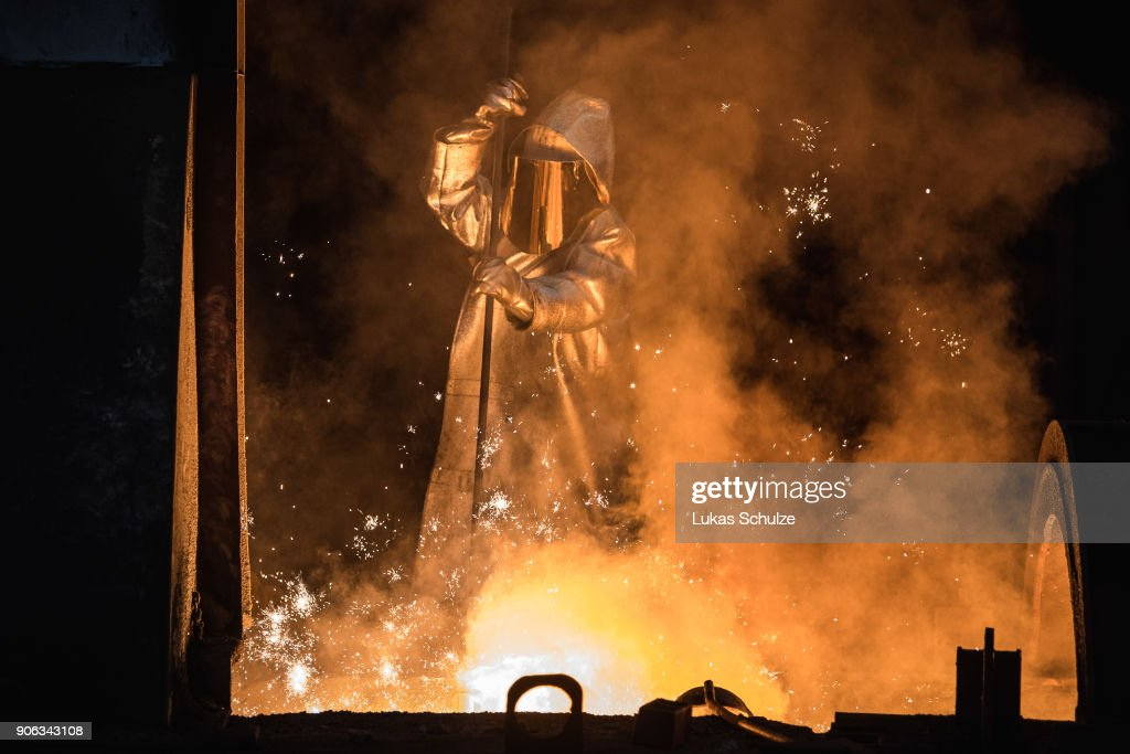 Steel Production At ThyssenKrupp Duisburg