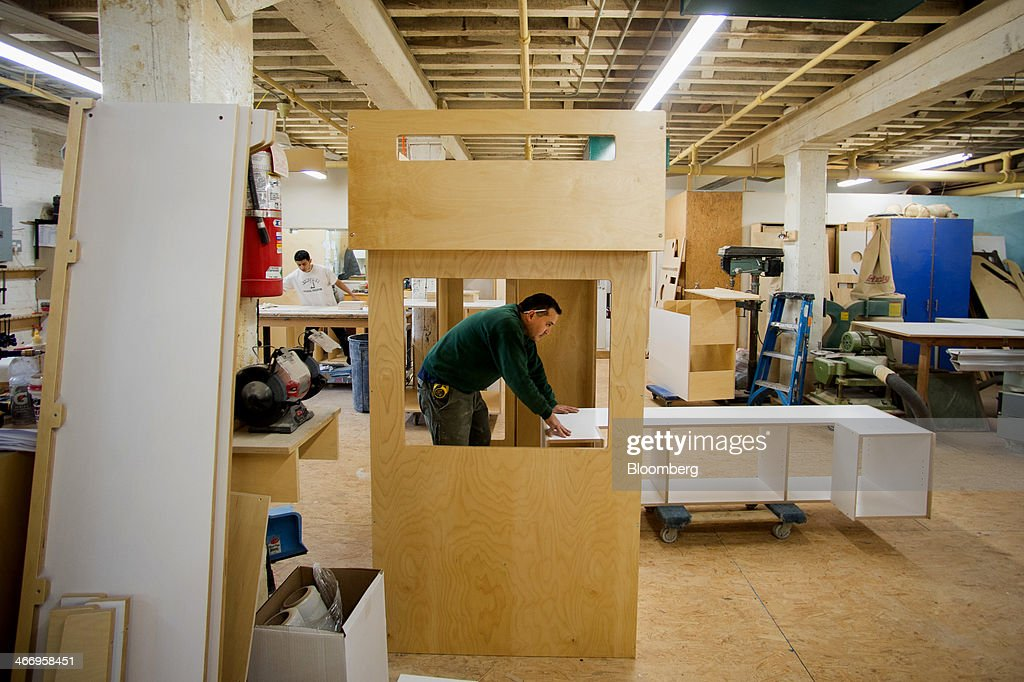 Worker Pedro Rosas Moves A Piece Of Furniture At Casa Kidsu0027 Red Hook  Facility In