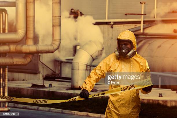 worker - cordon tape stock pictures, royalty-free photos & images