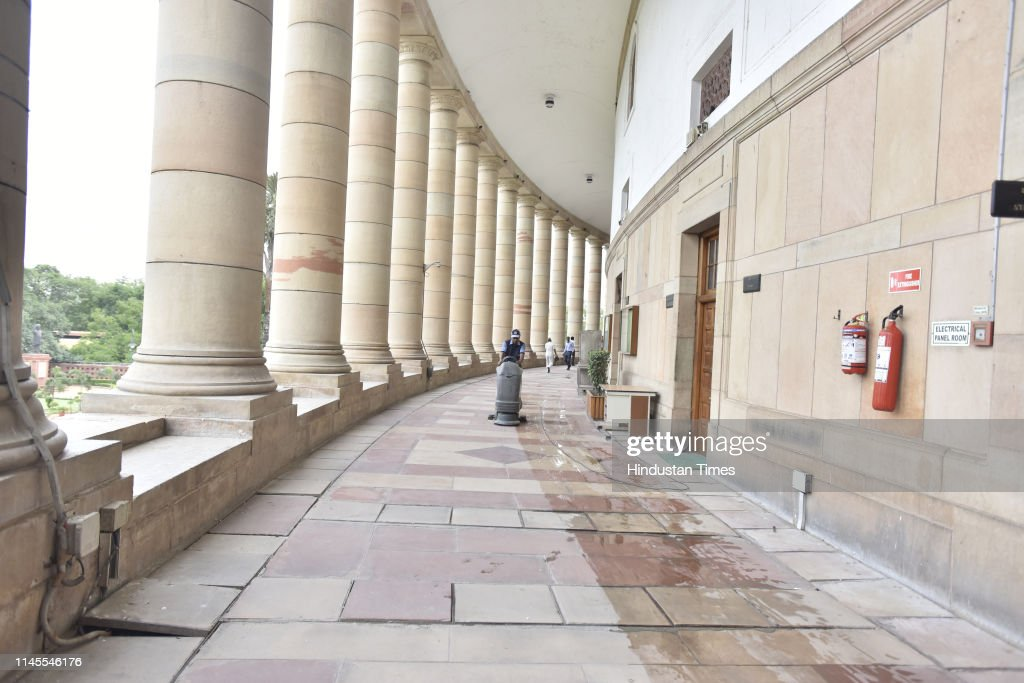 IND: Preparations At Parliament Ahead Of Declaration Of Lok Sabha Results