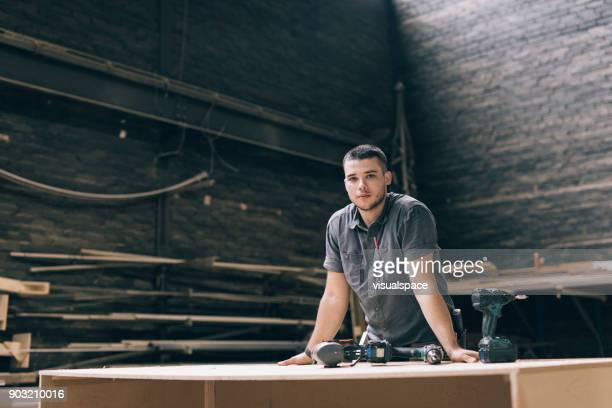 worker portrait - carpenter stock pictures, royalty-free photos & images