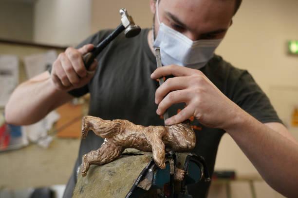 DEU: Artisans Craft Berlinale Bear Trophies Ahead Of 2021 Festival