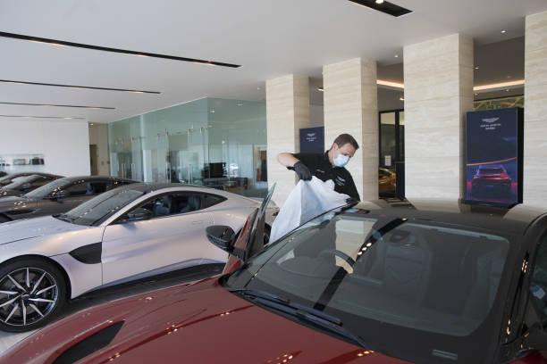 GBR: Virus Lockdown Easing Sees Aston Martin Works Dealership Reopen