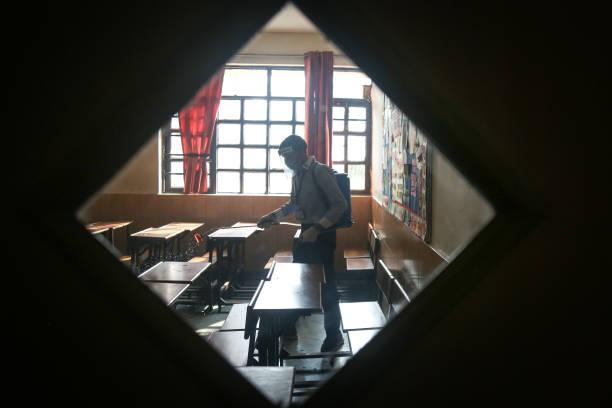 IND: Delhi Schools Reopen For Class 10, 12