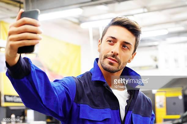 Travailleur selfies