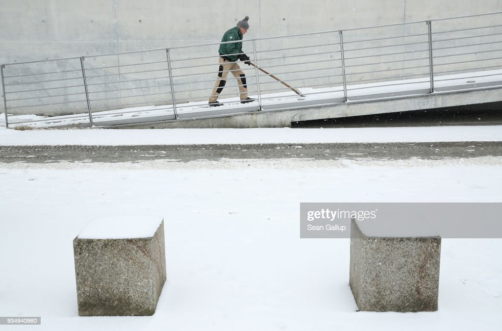 Snow Falls In Berlin