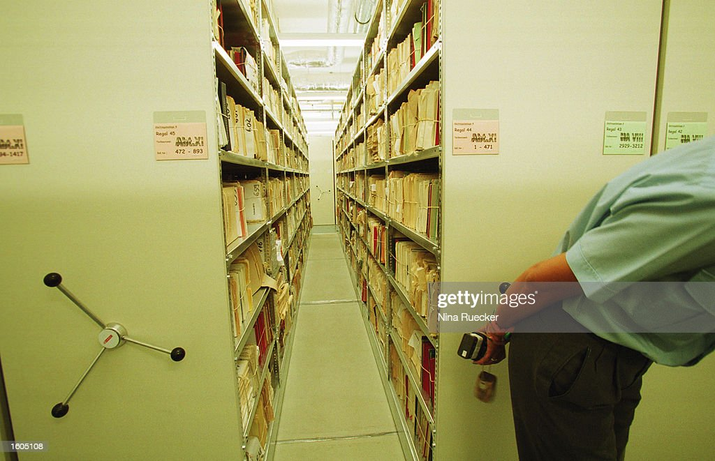 Former East German Intelligence Agency Archive : News Photo