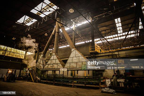A worker stands inside the Doe Run Peru refinery in La Oroya Peru on Wednesday March 20 2013 Located high in the Andes Mountains of Peru Doe Run Peru...