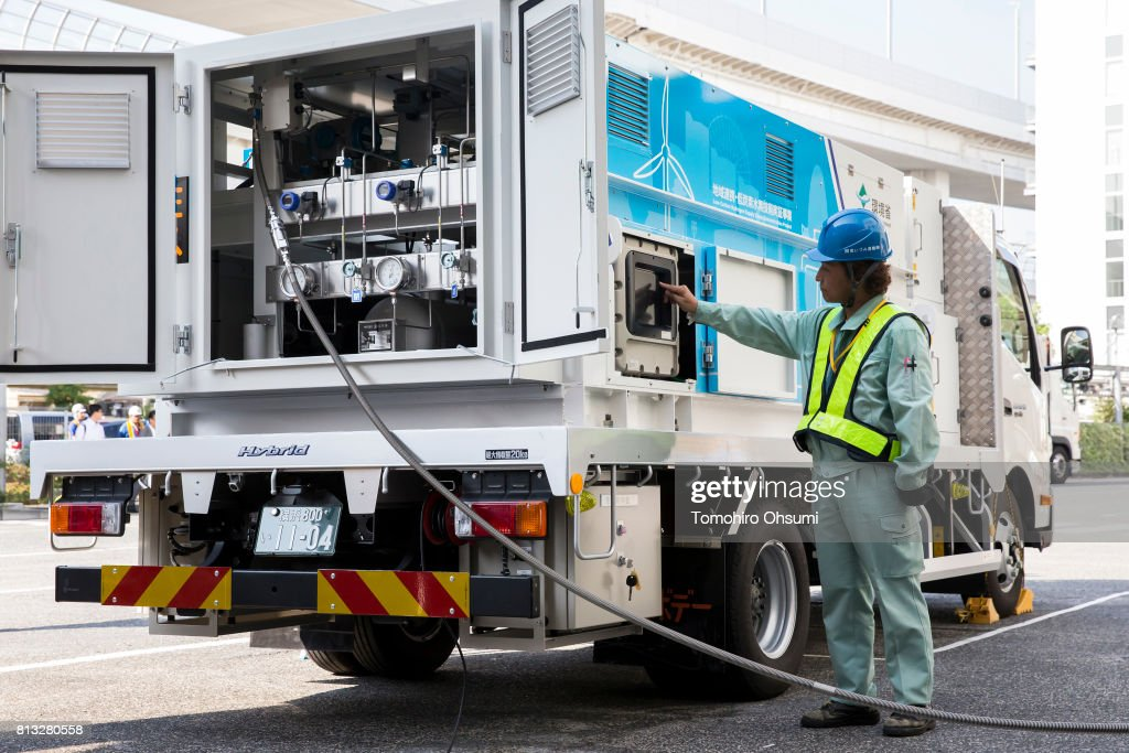 Media Tour Of Low-Carbon Hydrogen Supply Chain Demonstration Project : News Photo