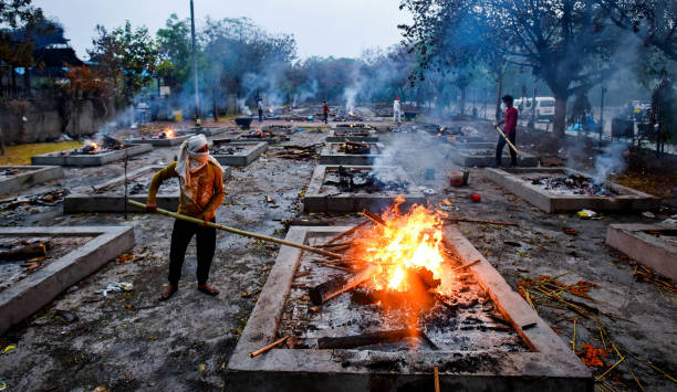 IND: Cremation Of Covid Victims