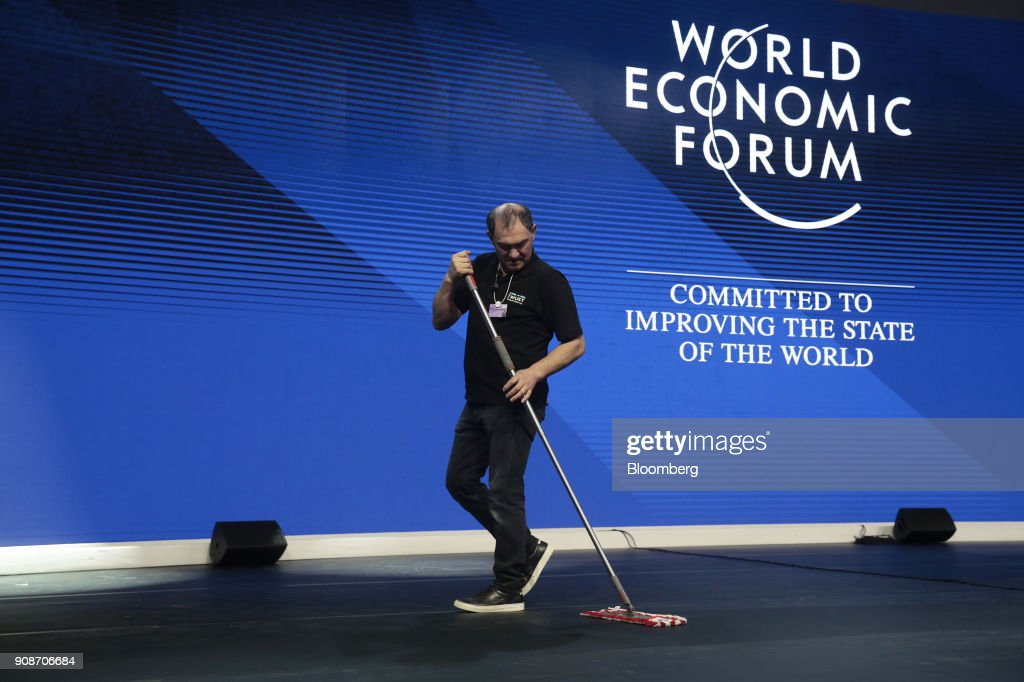 Preparations Ahead Of The World Economic Forum  2018