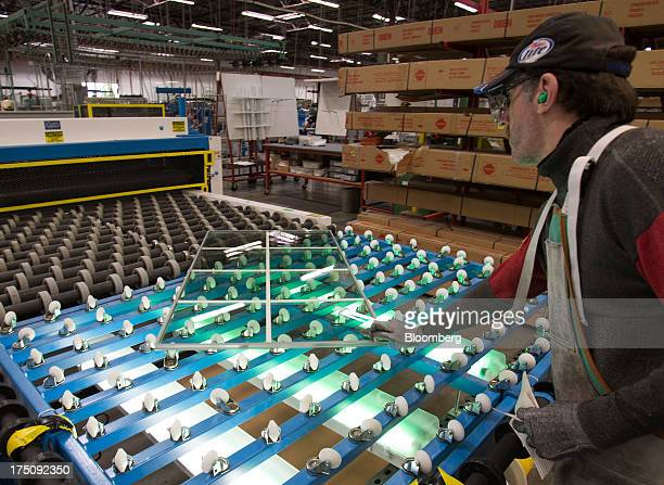 milgard windows tacoma replacement worker tempers metal window at the milgard windows doors manufacturing facility in tacoma stock photos and pictures getty images