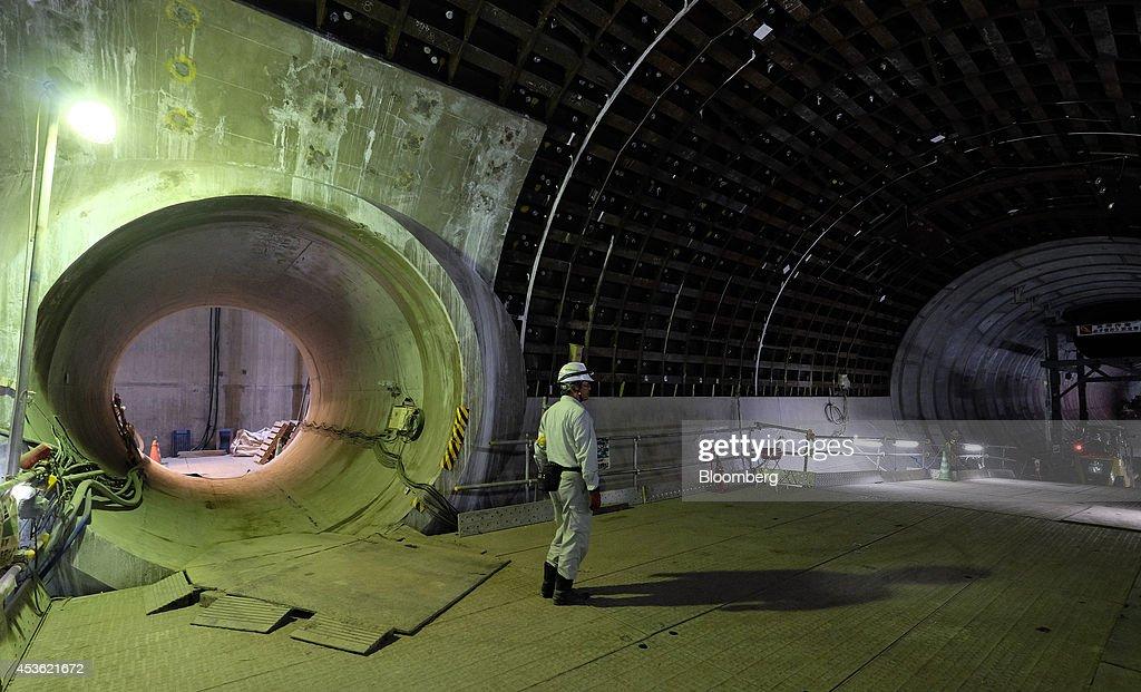 Construction Of The Furukawa Reservoir As Tokyo Takes Flood Control Underground : News Photo