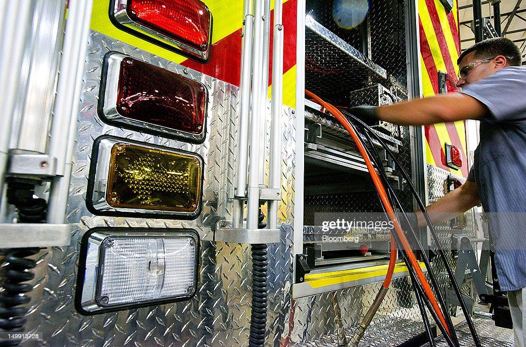 inside horton emergency vehicles manufacturing facilities : news photo