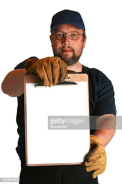 worker with clipboard