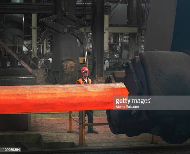 Worker With Steel Forge