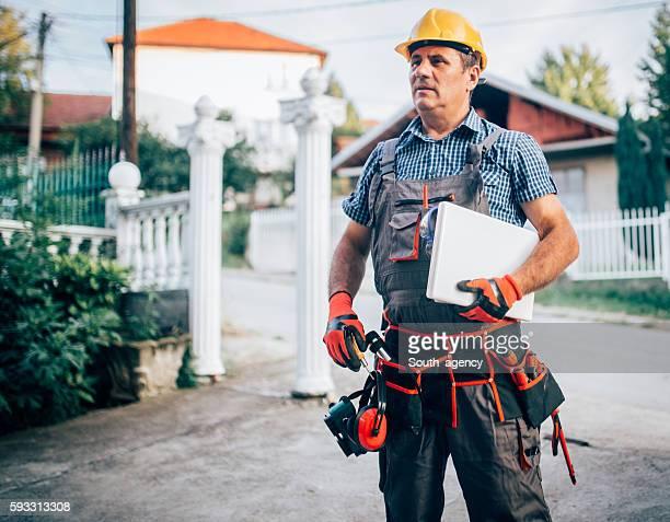 Arbeiter mit tool
