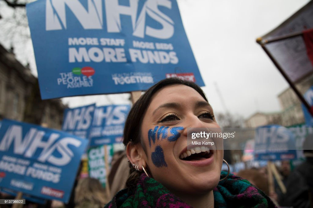 NHS In Crisis Emergency Demonstration In London : News Photo