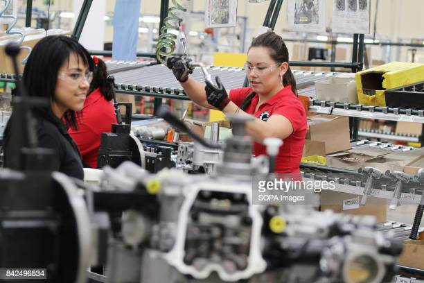 INC FACTORY QUERETARO MEXICO Workers are pictured during the manufacture of pieces for boats and planes at production plant 'Bombardier Inc' factory...