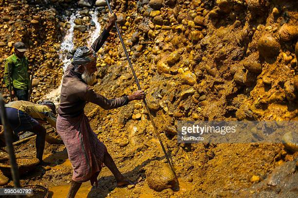 Workers are working in a stone mine at Jaflong Sylhet on March 18 2016