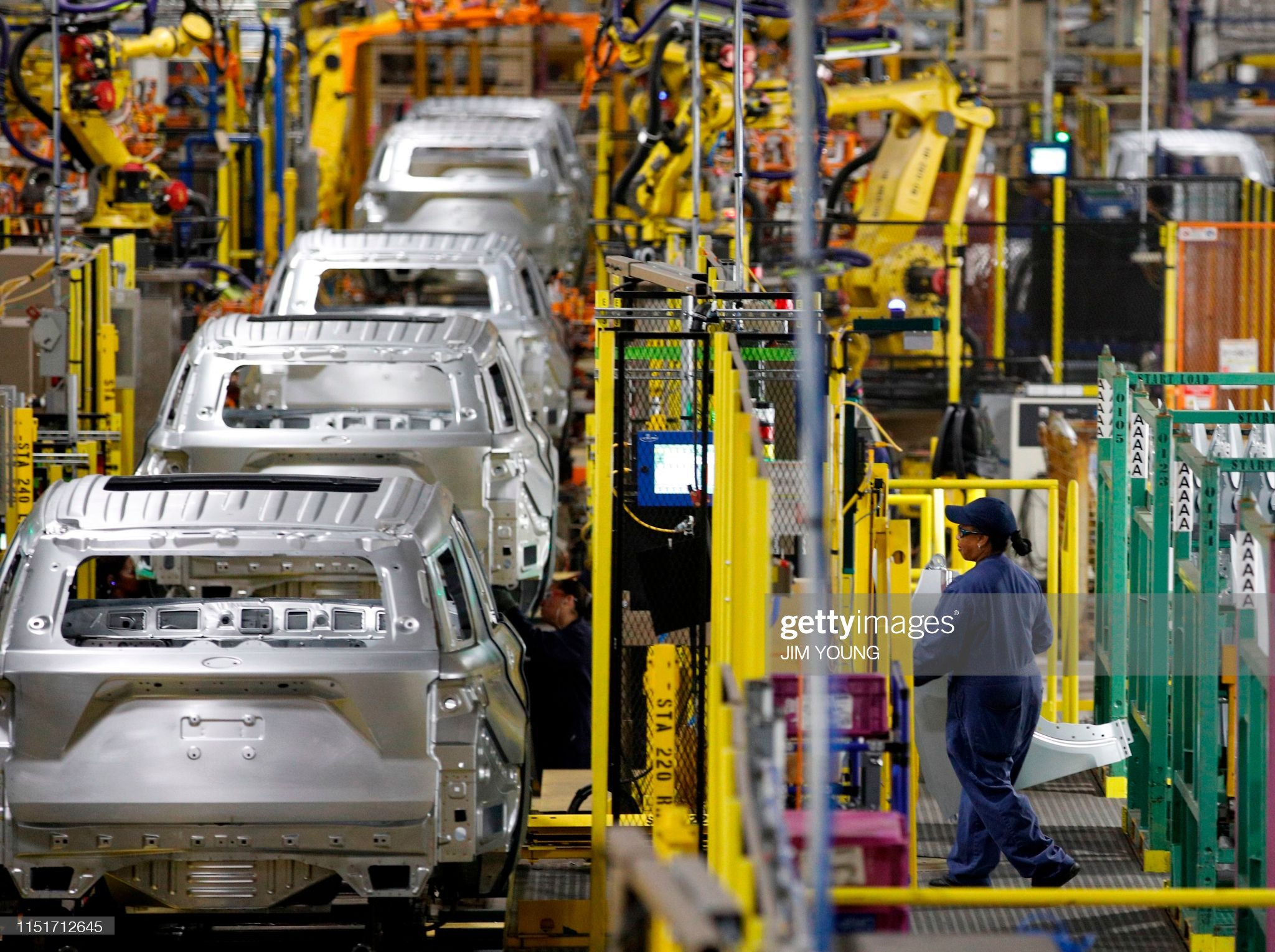 US-ECONOMY-TRANSPORT-MANUFACTURING-AUTOMOBILE-FORD : News Photo