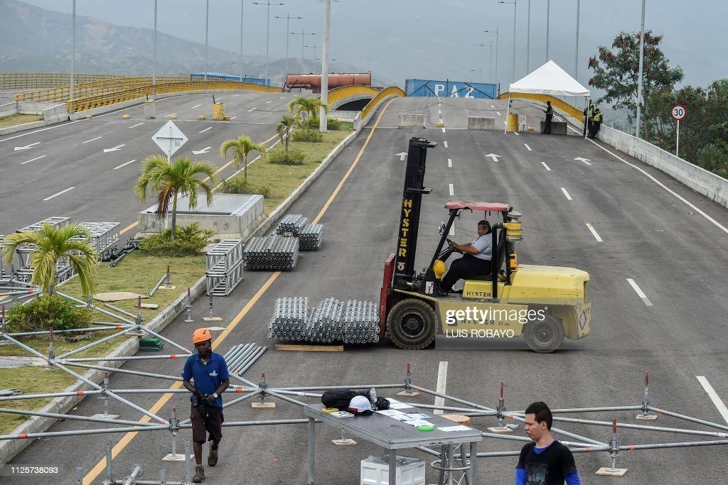 COLOMBIA-VENEZUELA-CRISIS-AID-CONCERT : News Photo