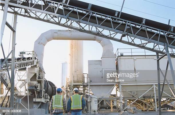Workers at Asphalt Plant