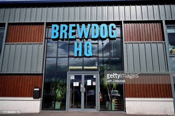 Workers at BrewDog brewery pack hands sanitiser being produced at the plant on April 03, 2020 in Ellon, Scotland. Scotland based brewery BrewDog have...