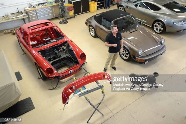 Workers at Doctor Detail in Costa Mesa are restoring this 1965 Porsche 911 Owner Darren McKendry is expecting the car to be worth $350000...