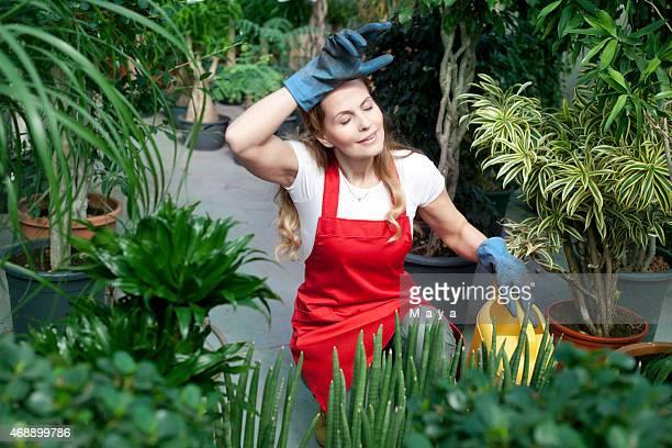 Arbeitnehmer im Garten-center erhalten Sie müde