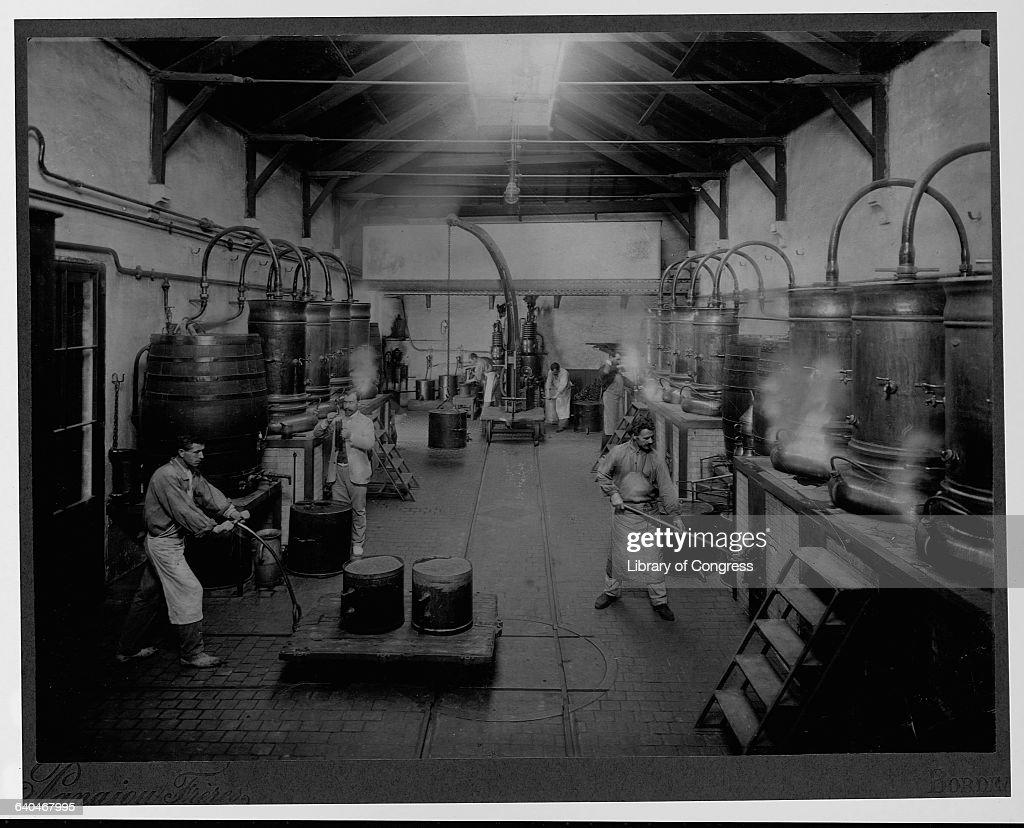 Workers at Marie Brizard Distillery