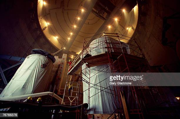 Workers at nuclear reactor manufacturing plant