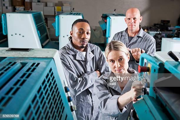 Arbeitnehmer an Druckerei