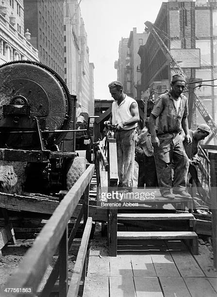 Workers at Squibb Building Construction Site 745 Fifth Avenue New York City New York circa 1930