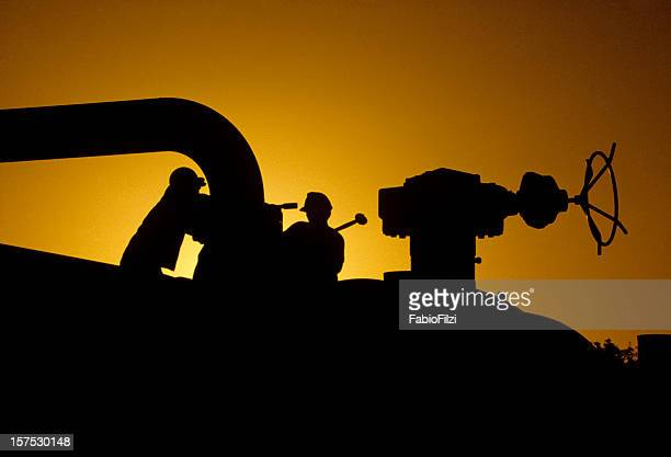 workers at sunset - fabio filzi stock photos and pictures
