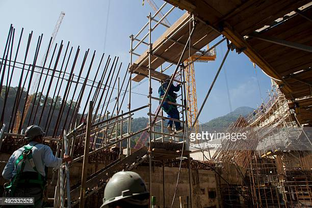 Workers at the construction of Angra 3 Nuclear Plant Angra dos Reis