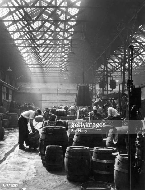 Workers at the Guinness brewery at St James's Gate Dublin 22nd August 1953 Original publication Picture Post 6666 Ireland's National Drink pub 1953