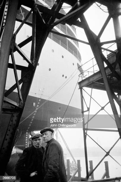 Workers at the Harland and Wolff ship yard in Belfast where a liner is being built Original Publication Picture Post 7029 The Best And The Worst Of...