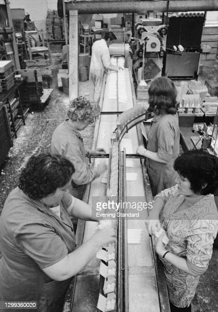 Workers at the Price's candle factory, UK, 22nd October 1972.