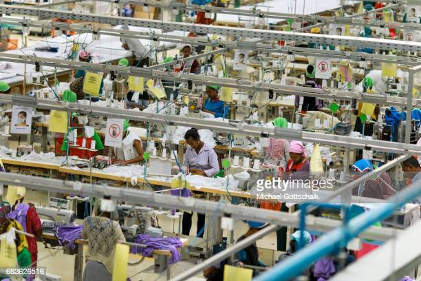 Workers at the textile production JayJay Textiles in Ethiopia Here among other things the brand H and M and other export goods are produced on April...
