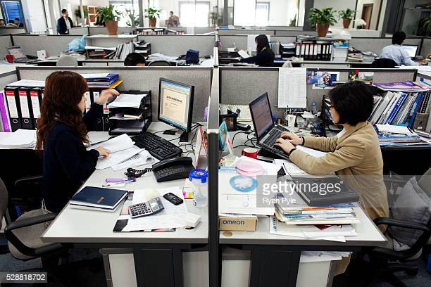 Workers at Tony Yu's Gentech offices in the Zinzhuang Industrial Zone in the suburbs of Shanghai China Tony Yu grew rich helping build China in to...