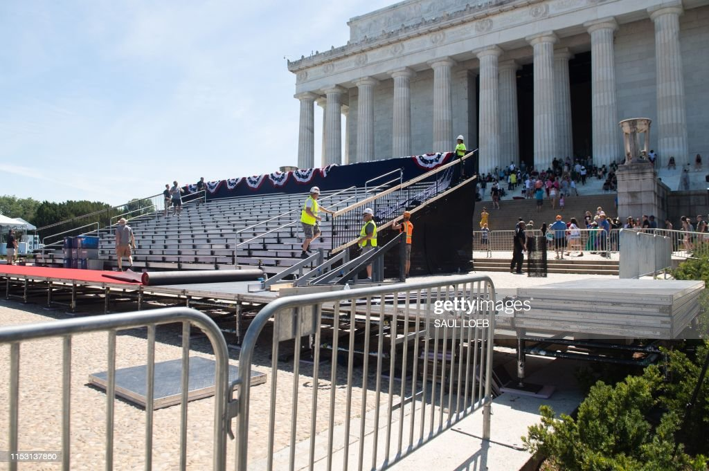 US-POLITICS-TRUMP-JULY4-HOLIDAY : News Photo