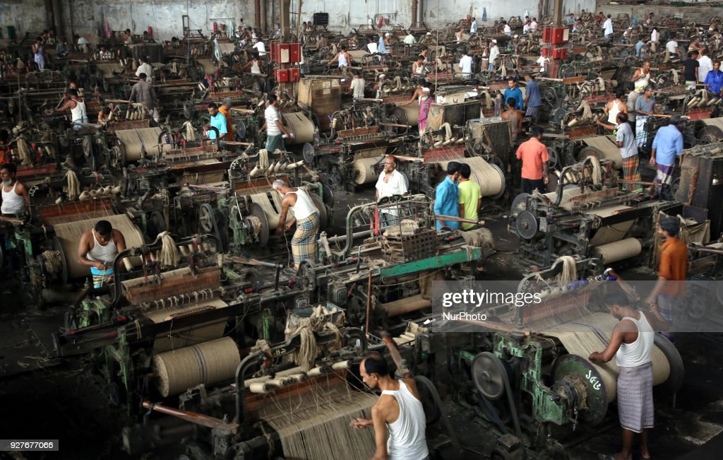 Jute Mill workers in Dhaka : News Photo
