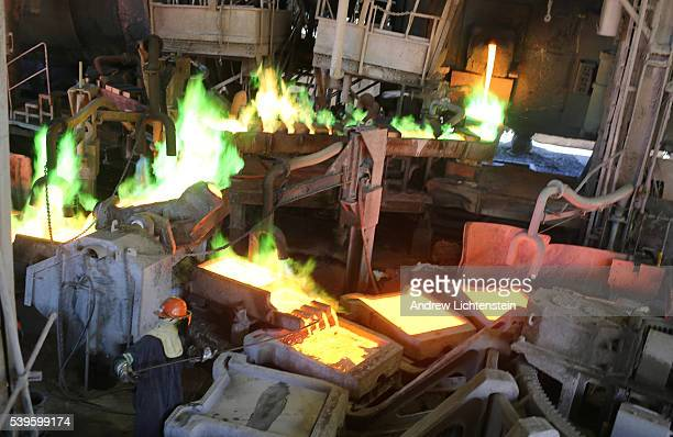 Workers cast copper anodes at the Hayden smelter The small mining communities of Kearny and Hayden Arizona are in the heart of the Copper Basin in...