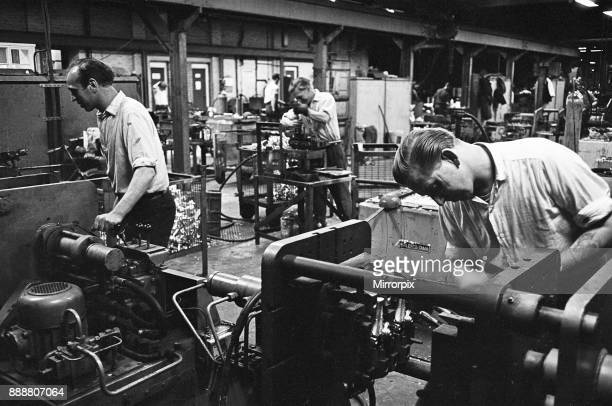 Workers casting moulds on the shop floor of the GE Foundry Electric Avenue Witton Birmingham 2nd July 1963