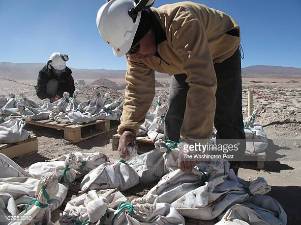 Workers for Exar the Argentine affiliate of Lithium Americas Corp bag and tag brine extracted from an exploratory well The muck will be tested to...