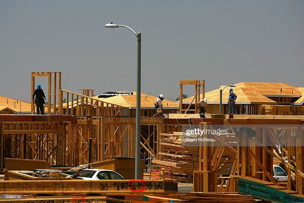 Workers frame up new houses as a rural landscape is rapidly converted into a vast suburb while a construction boom continues in San Bernardino County during World Population Day on July 11, 2007 near Rancho Cucamonga, California. San Bernardino County and neighboring Riverside County in Southern California are among the fastest growing areas in the state and are expected to help drive the total state population to almost 60 million in 2050. In the 20th century, the world's population exploded from 220 million to 2.8 billion and that rate will increase exponentially. By 2008, 3.3 billion people, more than half the world's population, are expected to be living in urban areas.